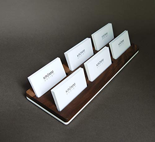 Business Card Holder/Business Card Stand/Business Card Display, Walnut Wood Card Holder ()