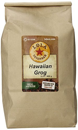 Lola Savannah Hawaiian Grog Whole Bean Coffee - Roasted Arabica Beans Bring the Flavors Of The Tropics To Your Cup Of Coffee | Caffeinated | 2lb Bag (Best Bean To Cup)