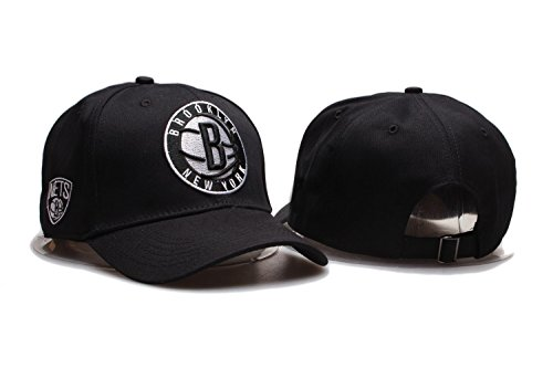 Hat Baseball Logo Adjustable (JOE JOURNEYMAN Brooklyn Nets NBA Mens Team Logo Sport Baseball Cap Adjustable Plain Hat (One Size, Brooklyn Nets4))