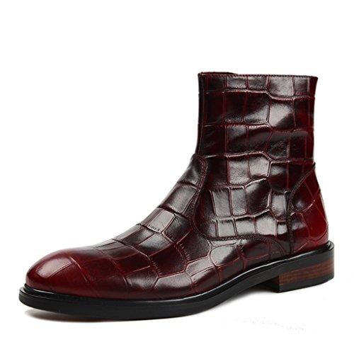 Herren Lederschuhe Herren Stiefel Army Boots High-Top-Schuhe im britischen Stil Martin Stiefel Herrenschuhe ( Farbe : Schwarz , größe : EU38/UK5.5 ) Braun