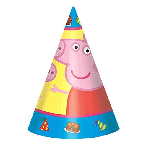 American Greetings Peppa Pig Party Hats/Masks (8 -