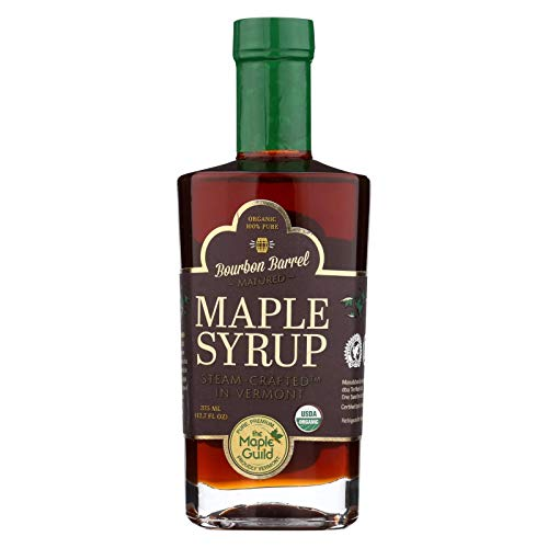 THE MAPLE GUILD, Organic Syrup, Bourbon Barrel Aged, Pack of 6, Size 375 ML, (Gluten Free Kosher 95%+ Organic) by The Maple Guild (Image #2)