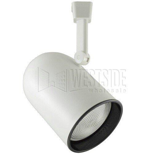 Halo LZR302P Lazer Round Back Cylinder Lamp Holder with Black Baffle, White, BR30, R30, PAR30, BR25