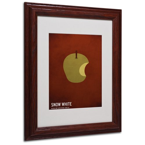 Snow White Artwork by Christian Jackson in Wood Frame, 11 by 14-Inch by Trademark Fine Art