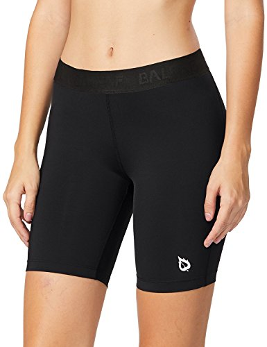 Baleaf Women's 7-Inch Active Fitness Compression Shorts Black Size XS