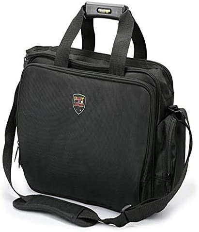ツールバッグ ツールショルダーバッグ多機能工具収納トートバッグ機能テクニシャンバッグラップトップバッグ 工具収納便利 (Color : Black, Size : One size)