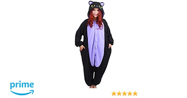 Amazon.com  Lifeye Adult Black Cat Pajamas Animal Cosplay Costume  Clothing fd741d231