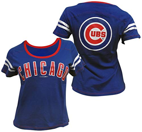 - 5th & Ocean Chicago Cubs Women's Baby Jersey S/S Scoop Neck XXL