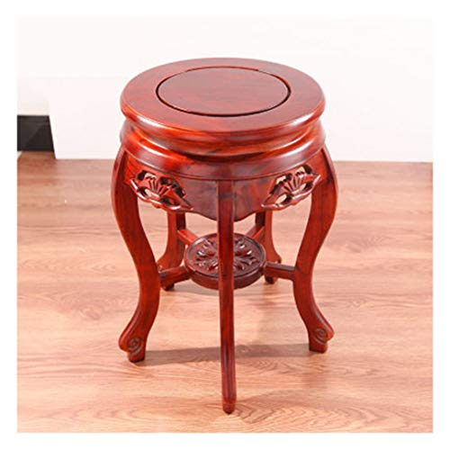 QPSGB - stools Wood Wooden Bench- Antique Round Stool Dining Table Bench Home Elm Stool Small Wooden Bench Flower Pot Holder (Color : A)