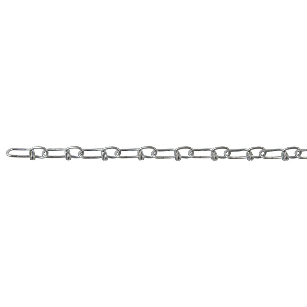 Perfection Chain Products 14012 #2 Double Loop Chain Bright Galvanized 100' Carton