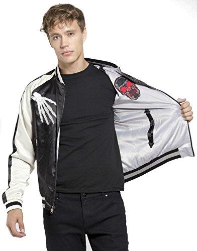 Tripp-Gothic-Punk-Rocker-Metal-Moto-Biker-Reversible-Skull-Skeleton-Jacket