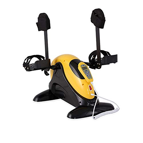 YXIEUR Electric Pedal Exerciser for Seniors Physiotherapy Rehabilitation - Portable Fitness Cycle for Arm/Leg Exercise Mini Cycling Trainer Stationary Exercise Leg Peddler