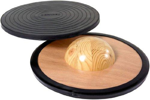Holz-Balancierbrett, schwarz