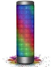 ELEGIANT Mobiler Bluetooth Lautsprecher, Bluetooth Tragbarer LED Lautsprecher 16W Stereo Boombox Musikboxen Speaker mit Reinem Bass 10 Stunden für Indoor Outdoor Android iPhone Tablets, Laptop, PC