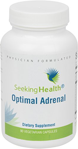 Optimal Adrenal | Provides Pure Nutrients for Optimal Adrenal Support | 90 Easy-To-Swallow Vegetarian Capsules | Non-GMO | Free of Magnesium Stearate | Physician Formulated | Seeking Health