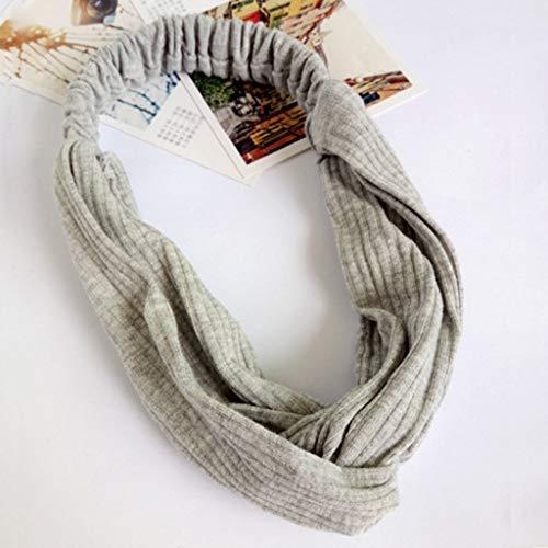 (Yucode Womem 1Pack Boho Headbands for Women Criss Cross Elastic Head Wrap Twisted Cute Hair Accessories)