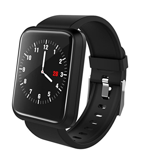 HP95 Sports Smart Watch with Heart Rate Blood Pressure Monitor,Bluetooth 4.1,Waterproof IP67,Standby 480 Hours,Work 7-10 Days (Black)