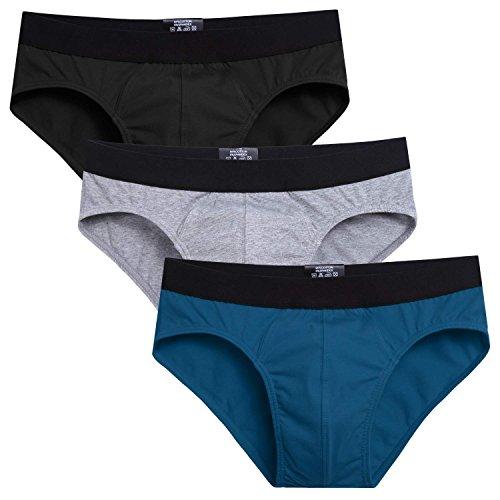 Avidlove Men Underwear Cotton Bikinis 3 Pack Hip Briefs #5 XL