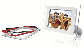 philips 65 inch digital picture frame clear with 3 additional colored frames