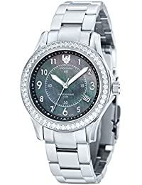Womens SE-6027-11 Talon Analog Display Swiss Quartz Silver Watch