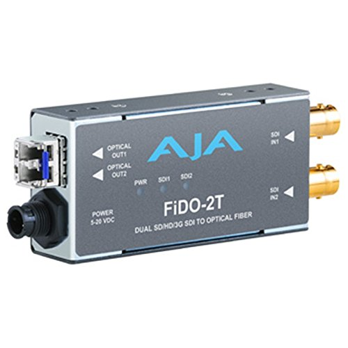AJA FiDO-2T Dual Channel SDI to LC Fiber Mini Converter (Sdi Over Fiber)