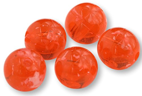 - River Guide Supply Round Acrylic Plastic Beads 200 Pack - Made in USA (COHO Roe, 8mm)