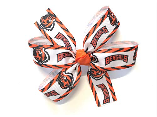 Cincinnati Bengals Sugar - Girls NFL Cincinnati Bengals Hair Bow Cincinnati Bengals Football Hair Clip Barrette