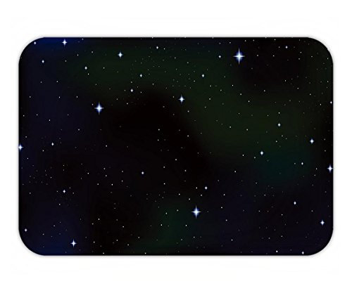 Beshowere Doormat cosmic vector starry background with constellations and stars in outer space night starry sky