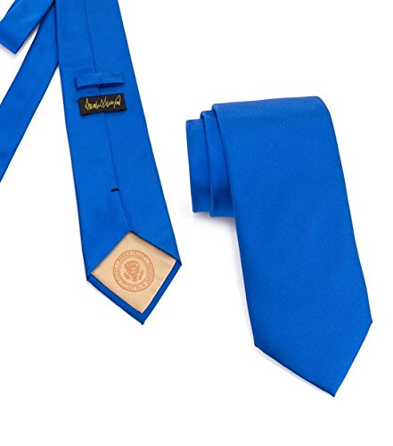 Donald J. Trump Signature Blue Neck Tie with Presidential Seal by Presidential Gifts