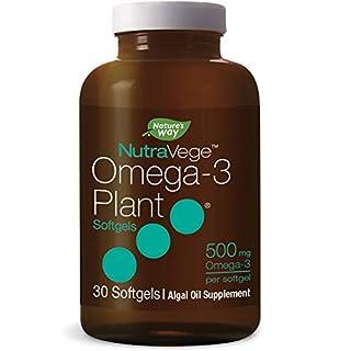 Nature's Way NutraVege Omega-3 Plant Based Supplement- Vegeterian, Vegan- 500 mg, 30 Count