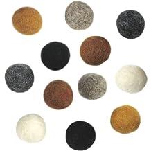 Dimensions Felt Embellishments, Earth Tone Balls, 12 Pieces