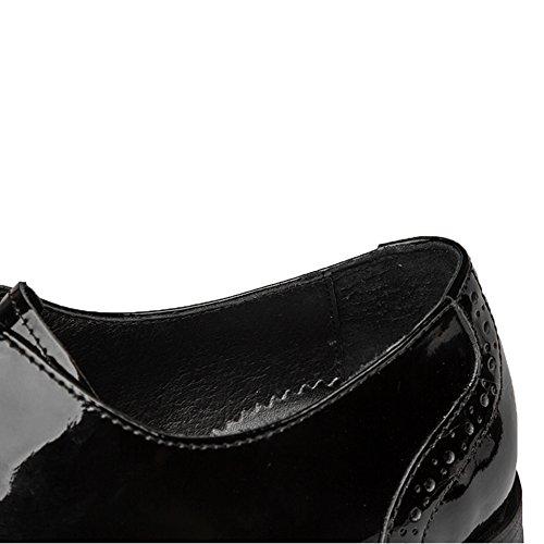 Merryhe Classic Oxford Mens Scarpe In Vera Pelle Punta In Pizzo Derby Cap-toe Scarpe Stringate Formale Allacciatura Scarpa Per Lavoro Da Sposa Lavoro Da Sera Festa Blackwhite