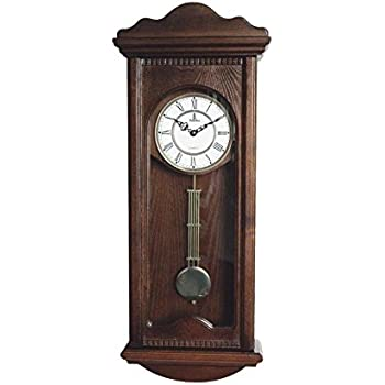 Amazon Com Seiko Wall Pendulum Clock Mahogany Finish