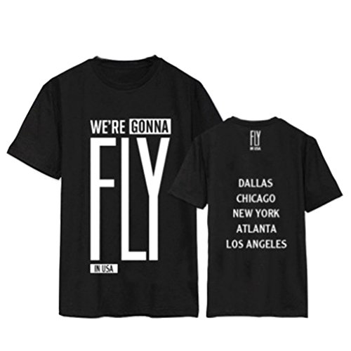 USA Concert Same Style Shirt Mark Yugyeom Jackson Tee M Black (Jackson Concert Shirt)