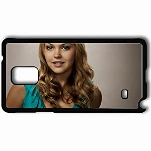 Personalized Samsung Note 4 Cell phone Case/Cover Skin Aimee Teegarden Blonde Smile Hair Black by lolosakes