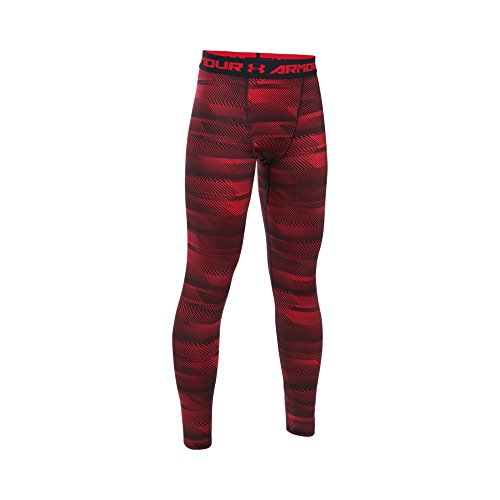 Under Armour Boys CG Novelty Leggings, Small, Red/Red