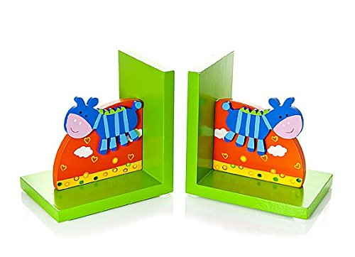 Cute Childrens Little Zebra Wooden Bookends For Kids Room or Nursery by Mousehouse Gifts