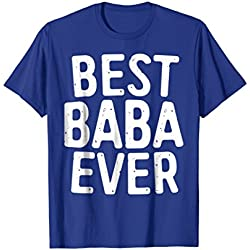 Mens Best Baba Ever T-Shirt Funny Father Gift Shirt XL Royal Blue