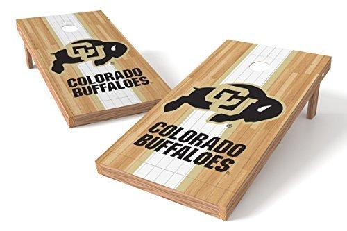 Wild Sports NCAA College Colorado Buffaloes 2' x 4' Hardwood Authentic Cornhole Game Set [並行輸入品]   B07FDS659D