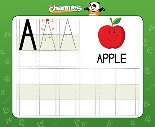 """ALL In One Flash Cards Size 5.5/"""" x 4.25 /"""" Channie/'s Visual Dry Erase Alphabet /& Numbers Flashcards Practicing /& Writing 1st Ages 3 and Up Tracing PreK"""