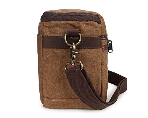 ocasional estilo la la bolso de caballo Bags Ying bolsa hombro impermeable la batik Bolso con del los del hombres de lona cruzado del del de de Bolso Lona SLR loco Brass cámara 4qxXxROU