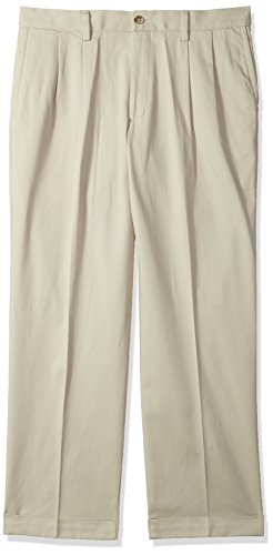 Dockers Men's Relaxed Fit Easy Comfort Pants D4-Pleated, Cloud 38W x 30L