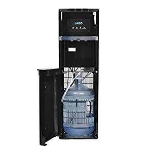 Hot, Cold and Room Temperatures Bottom Loading Water Cooler Dispenser - LAGO (Black)