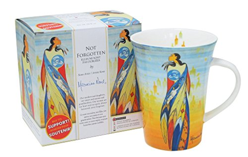 Sioux Artist Maxine Noel Porcelain Coffee Mug Not Forgotten Aboriginal Women Missing Murdered
