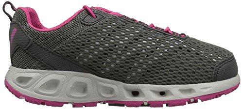 Columbia Youth Drainmaker Iii, Zapatillas de Deporte Exterior para Niñas Negro (Dark Grey, Ultra Pink 089)