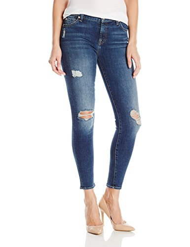 7 For All Mankind Women's Highwaist Contoured Waistband Skinny Jean