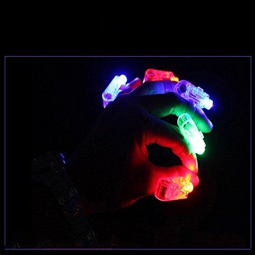 80De 4 Finger Doigt Lampe Réduction 50pcs Led Anneaux Lights Ring WHDE2I9
