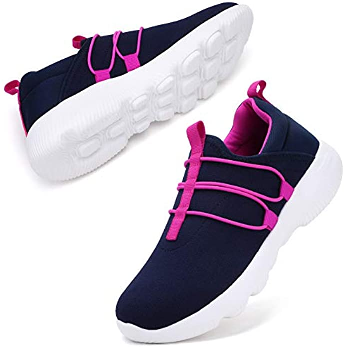 STQ Sneakers for Women Arch Support Comfort Walking Lightweight Running Shoes