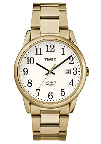 White Dial Stainless Steel Bracelet - Timex Men's Easy Reader White Dial with a Stainless Steel Bracelet Watch TW2R23600