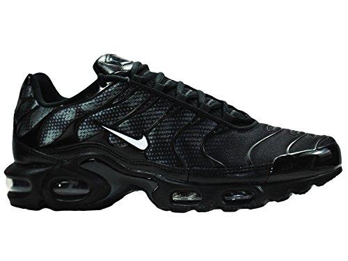 Nike Men's Air Max Plus TXT Running Shoes Black/White/Dark Grey qiv2f2W36L